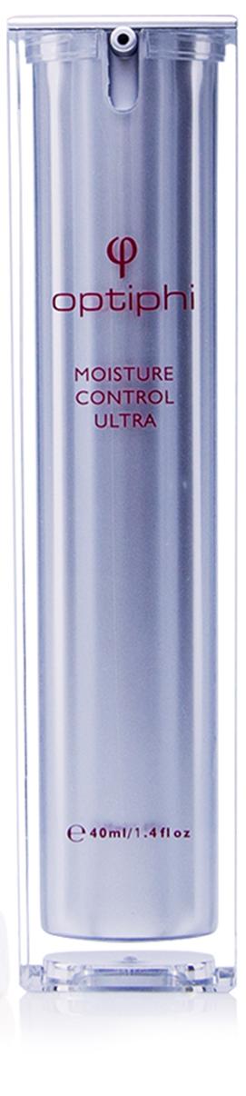 Produktfoto: Pumpflasche mit roter Aufschrift Moisture Control Ultra . Reichhaltige, intensive Feuchtigkeit
