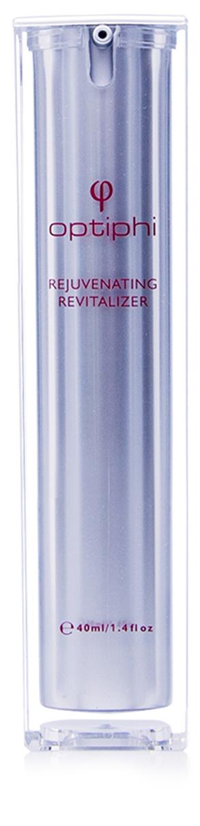 Produktfoto: Pumpflasche mit roter Aufschrift Rejuvenating Revitalizer. Intensives Anti- Aging