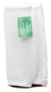 Hautglättendes Poliertuch Produktfoto: Body Puffer weißes Tuch für Körperreinigung und Peeling
