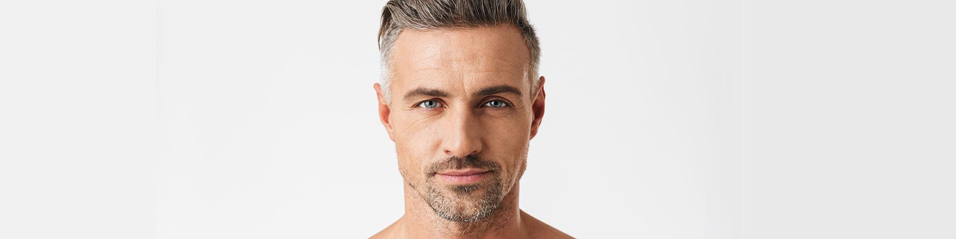 Männergesicht mit Bart
