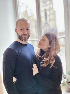 Sascha Schernthaner mit seiner Frau Cristina Pompeo