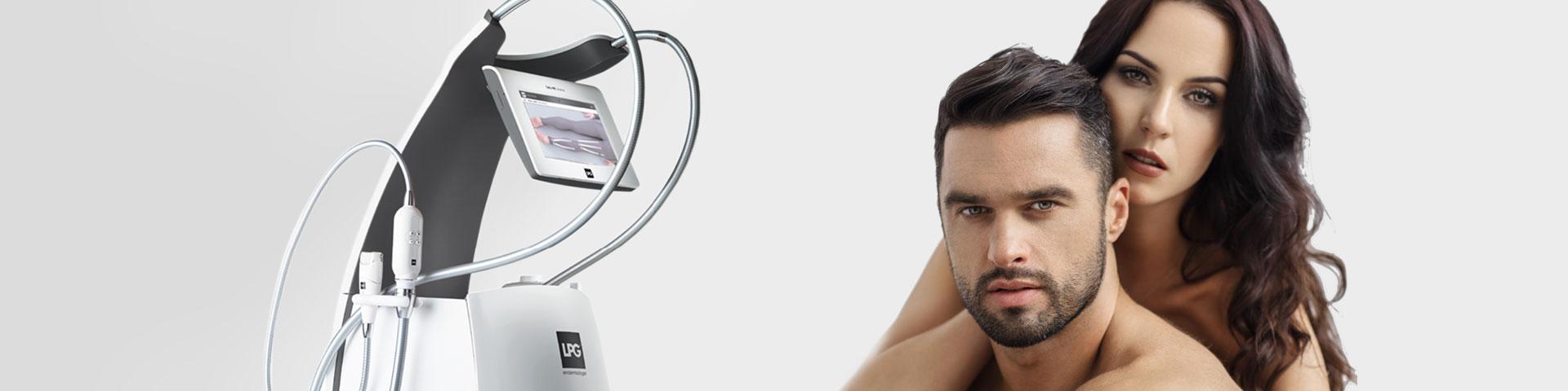 Endermologie Gesicht Mann und Frau mit dem Gerät