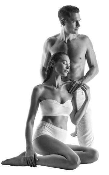 Endermologie Körperbehandlungen Symbolfoto SW Mann und Frau